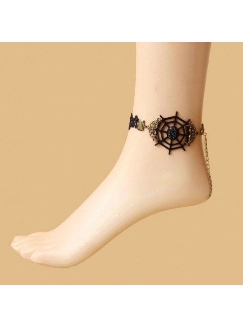Classic Lace Cobweb Lady Lolita Ankle Belt