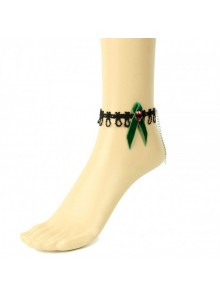 Beautiful Green Bowknot Girls Lolita Ankle Belt
