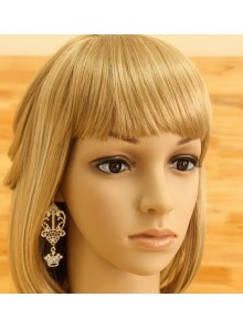 Gorgeous White Crown Girls Lolita Earrings