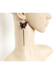 Chain Tassel Butterfly Handmade Women Lolita Earrings
