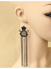 Sexy Queen Metal Chain Lolita Earrings