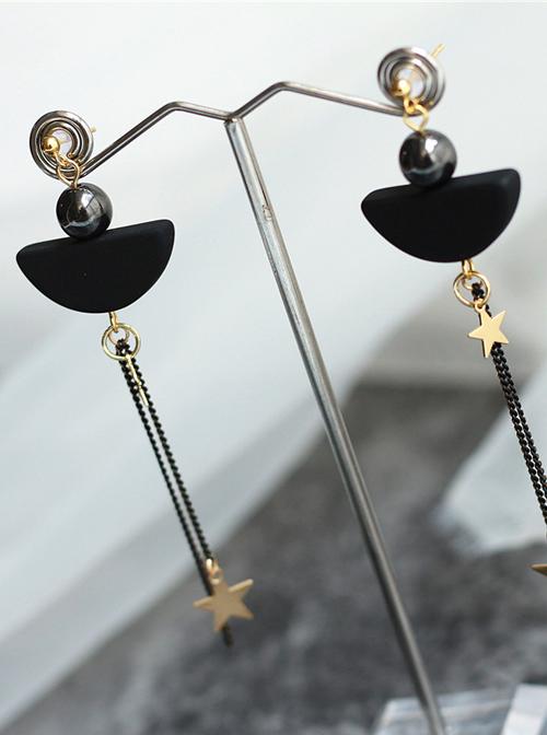 Sexy Metal Chain Star Tassel Lady Lolita Earrings
