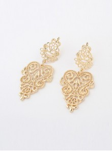 Hollow Out Golden Girls Bohemian Earrings