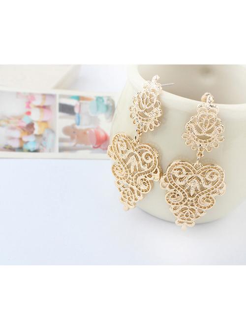 Hollow Out Golden Girls Bohemian Earrings