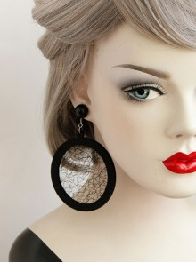 Circular Tulle Personality Fashion Earrings