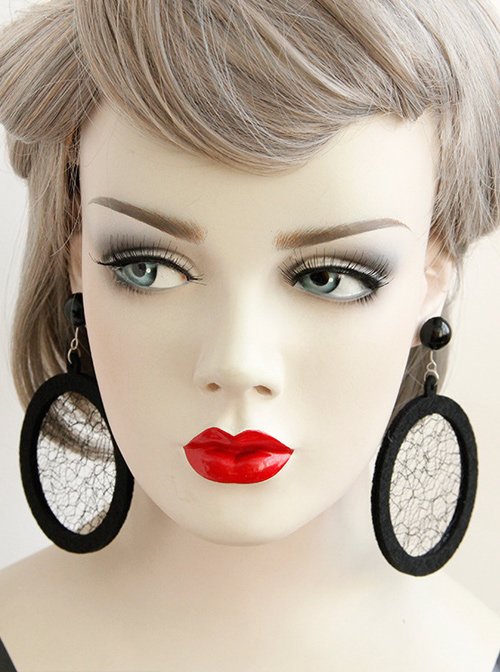 Circular Tulle Personality Fashion Earrings