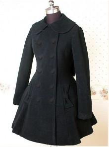 Black Long Sleeves Bow Graceful Lolita Coat