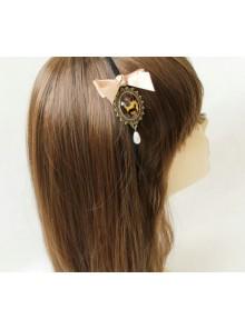 Classic Bowknot Leopard Print Gemstone Handmade Lolita Headband