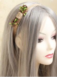 Concise Cute Rattan Bowknot Girls Lolita Headband