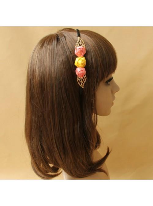 Cute Rose Lady Handmade Lolita Headband