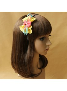 Cute Bowknot Flower Girls Handmade Lolita Headband