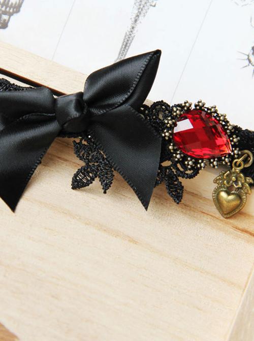 Retro Black Bowknot Gothic Lolita Headband