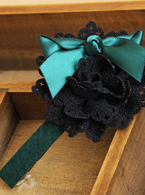 Elegance Blackish Green Handmade Bowknot Lady Lolita Headband