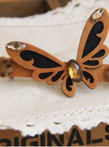Concise Brown Butterfly Lovely Handmade Lolita Hairpin