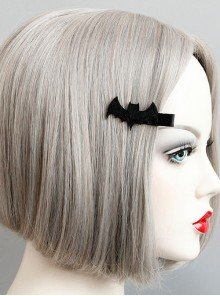 Black Concise Funny Bat Handmade Girls Lolita Hairpin