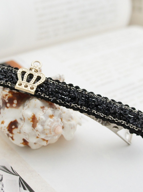 Gothic Imperial Crown Black Lady Lolita Hairpin