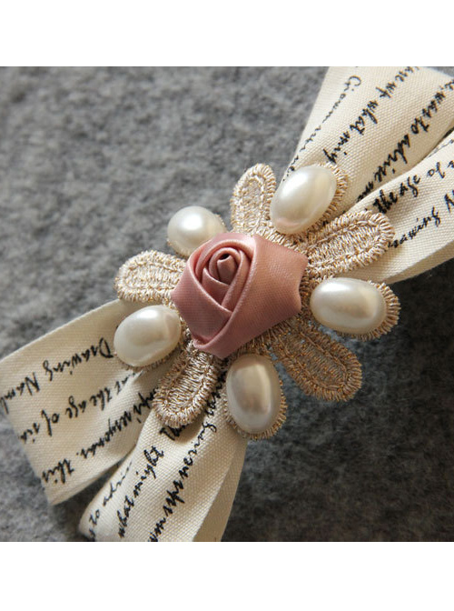 Exquisite Beads Bow Lady Lolita Hairpin