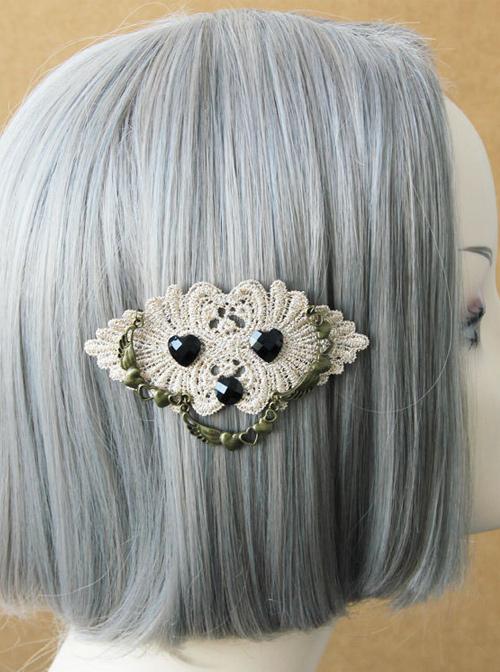 Retro Lace Girls Handmade Lolita Hairpin