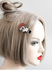 Cute Cartoon Head Portrait Lolita Hairpin