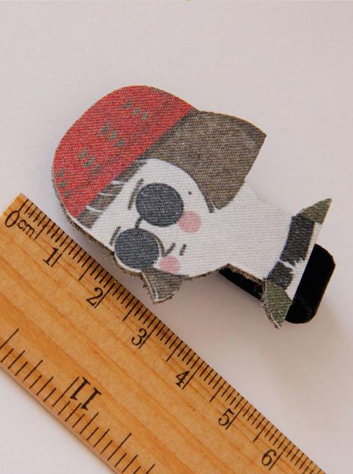 Cute Cartoon Head Portrait Lolita Hairpin