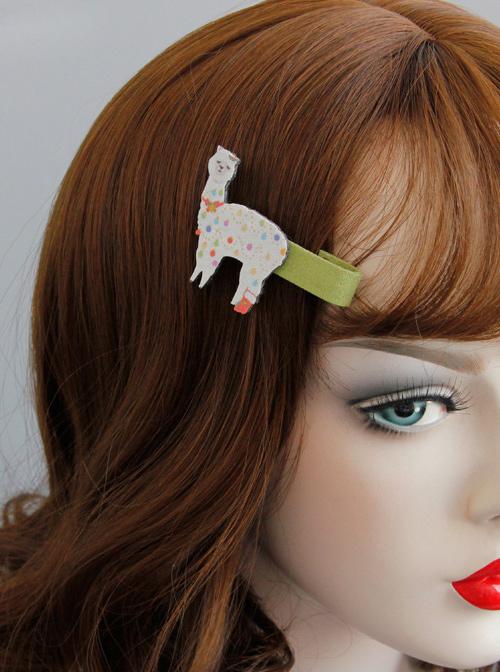 Funny Alpaca Sweet Lolita Hairpin