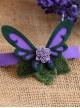 Purple Butterfly Flower Lolita Hairpin