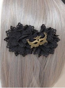 Gothic Black Lace Flower Handmade Lolita Hairpin