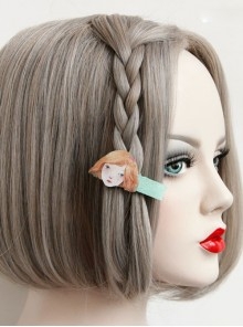 Cute Girl Pattern Lolita Hairpin