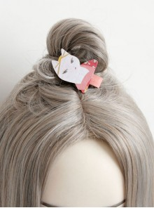 Cute Cat Pattern Lolita Hairpin