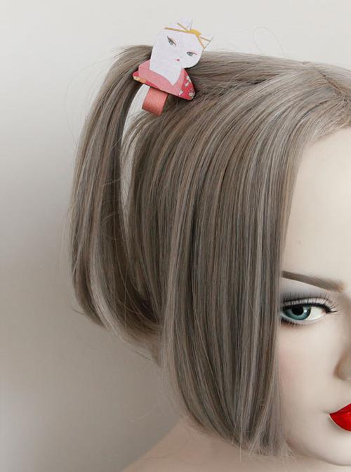 Cute Cat Pattern Lolita Hairpin