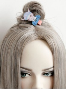 Funny Weird Doll Pattern Lolita Hairpin