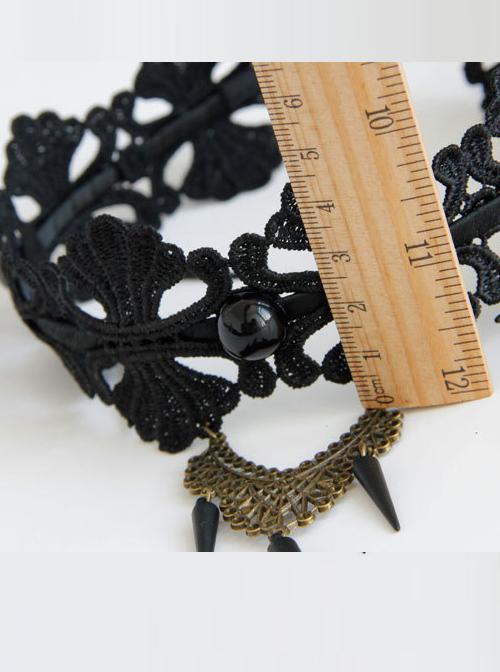 Punk Gothic Black Lace Lolita Headband