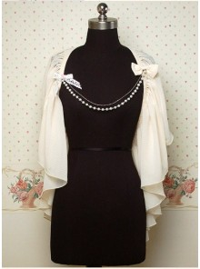 Chiffon White Sweet Lolita Cape