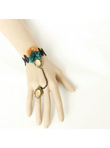 Retro Manor Halloween Lolita Bracelet And Finger Ring Suit