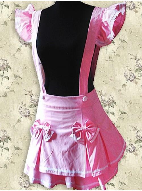 Pink Sweet Lolita Suspender Skirt
