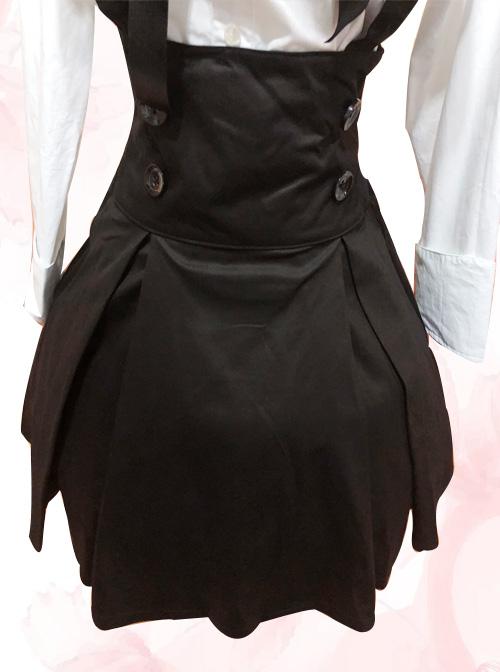 White Long Sleeves Blouse And Black Classic Lolita Skirt