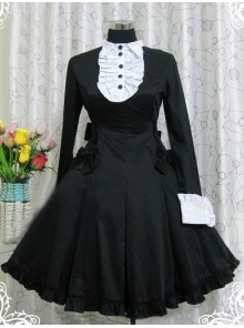 Black Long Sleeves Ruffle Classic Lolita Dress