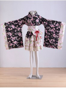 Japan Kawaii Lolita Sakura Kimono Dress Cosplay Costume