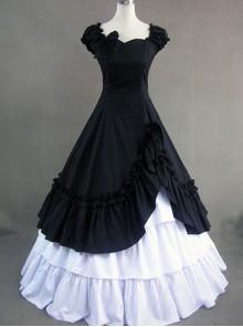 Classic Cotton Short Sleeves Ruffle Lolita Dress