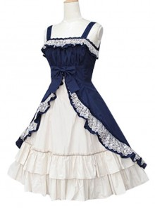 Short Sleeve Satin Yarn Classic Lolita Dress