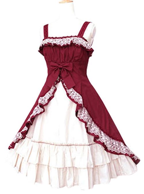 Short Sleeve Satin Yarn Classic Lolita Dress