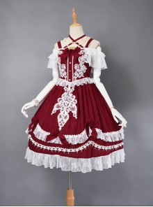 Wars Of The Roses Bowknot Classic Lolita Sling Dress