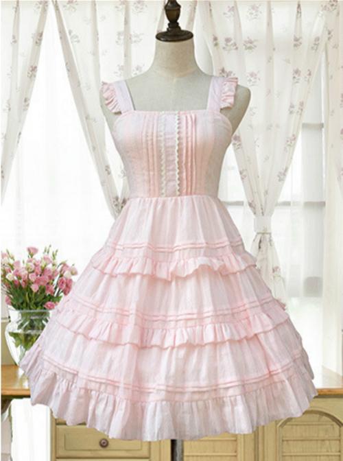 Lace High Waist Classic Lolita Sleeveless Dress