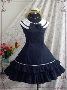 Ruffle Bow Double Breasted Two-pieces Classic Lolita Dress