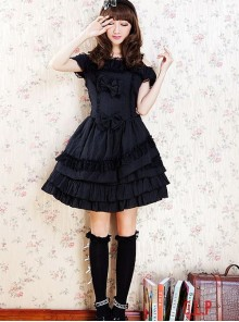 Bowknot Classic Lolita Off-the-shoulder Dress