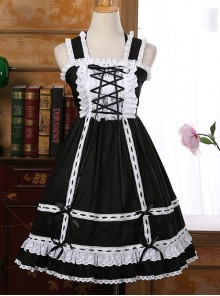 Lace Lace-up Bowknot Sweet Lolita Sling Dress