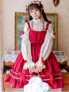 Elegant Bowknot Classic Lolita Long Sleeve Dress