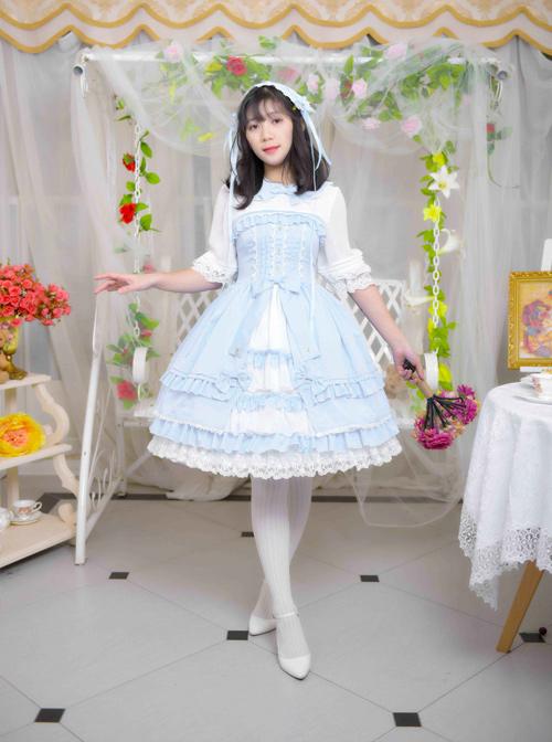 Sleepwalking Fairy Tale Series Classic Lolita Half Sleeve Dress