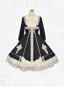 Maria Crucifix Series Long Sleeve Gothic Lolita Dress