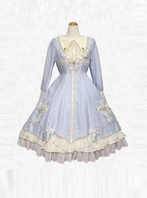 Maria Crucifix Series Long Sleeve Gothic Lolita Dress